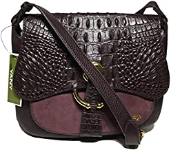 orYANY Woman's Leather/Suede Cross Body, Eggplant