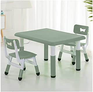 CHAXIA Child Table Chair Book Table 3-piece Set Adjustable Safety Stable  Color Options  Color