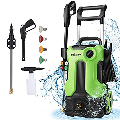 mrliance Pressure Washer, 3800PSI Electric Pressure Washer 5-in-1 2.8GPM, 2000W High Power Washer Machine for Home Car Boat RV Driveway Deck(Green)