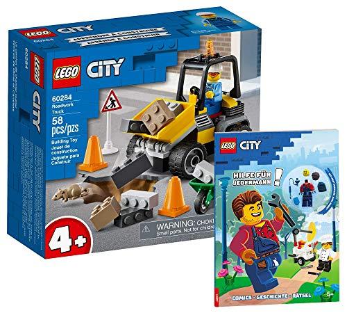 Collectix Lego City 60284 - Juego de construcción de camión Lego City (incluye funda blanda)