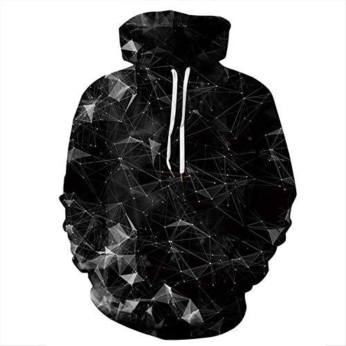Zwarte Rook 3D Digitale Print Hooded Paar Trui, Losse Hipster Honkbal Uniform stijlnaam Small Kleur