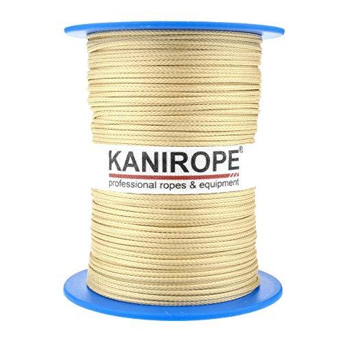 Kanirope® Aramidseil ARABRAID 1mm 100m Gelb 16-fach geflochten