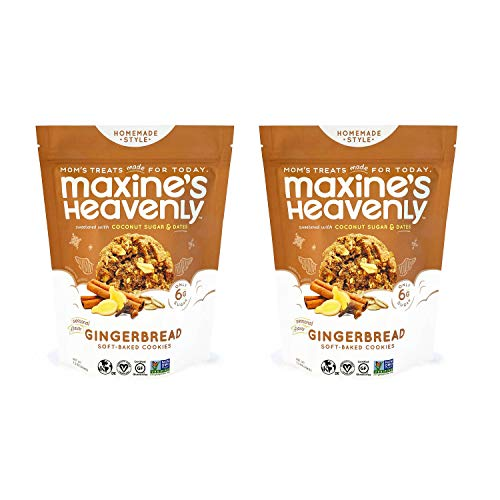 Maxine's Heavenly - Plant Based, Gluten Free, Low Sugar - Gingerbread Cookies (Pack of 2)