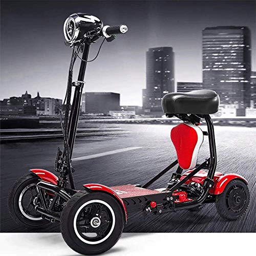 HXCD Pieces Scooter eléctrico Plegable de Movilidad, Silla de Ruedas eléctrica Ligera...