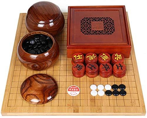 WJHCDDA Ajedrez magnetico Juego de Juegos, Junta de ajedrez de Doble Cara de bambú, Juego de ajedrez para niños para Principiantes para Adultos (Color : C)