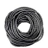 GTIWUNG 25mx4mm Organizador de Cables en Espiral, Tubo Flexible en Espiral Evuelto para PC TV DVD cable de antena estéreo agrupar cable, Negro