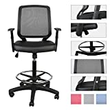 Best Drafting Chairs - LUCKWIND Office Drafting Chair Leather - Ergonomic Swivel Review