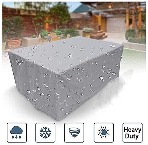 ZWR Fundas for Muebles de jardín Cubierta de Polvo Cubierta Impermeable a Prueba de Viento Banco de sofá de 3 plazas Profundo Salón Mesa de Picnic Negro (Color : Black, Size : 180x180x100cm)
