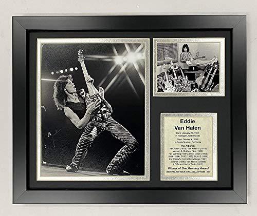 Eddie Van Halen   12'x15' Framed Photo Collage   Legends Never Die, Inc.  Solo