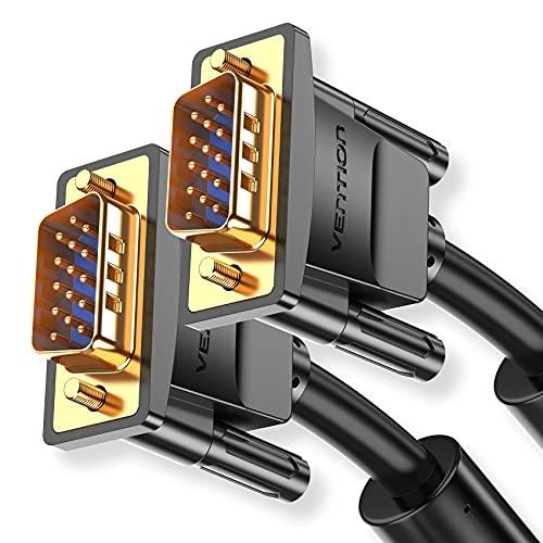 VENTION VGA Kabel,VGA auf VGA Kabel,15-polig, Full HD 1080P Monitorkabel,VGA Stecker auf VGA Stecker,kompatibel mit Projektoren, HDTVs, Displays(1m)