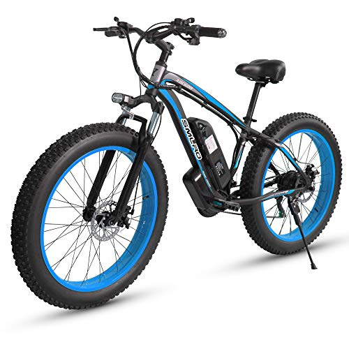 XXCY MX02 eBike, Fat E-Bike, 1000 W, 48 V, 17 AH (Blau)