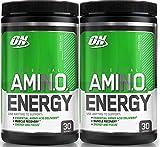 Optimum Nutrition Essential Amino Energy, Pack of Two 30 Servings (Lemon Lime 2 x 30 Servings)