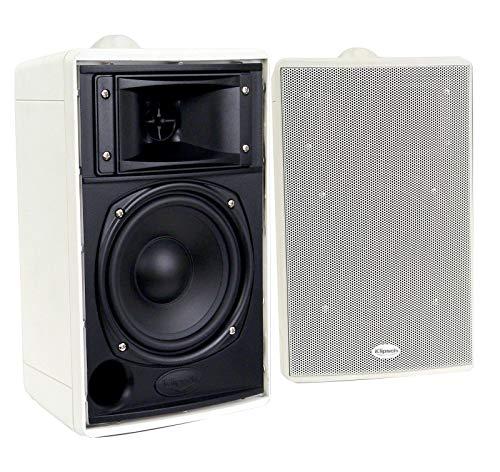 Klipsch Synergy Series 2-Way Indoor / Outdoor Speakers, Pair - White (Renewed)