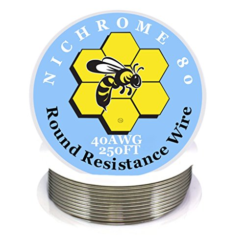 Kbee's 250 ft - 40 Gauge AWG Nichrome 80 Resistance Wire 250' Length
