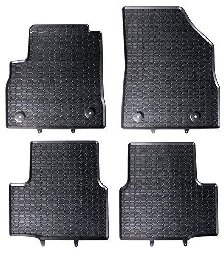 DAPA 1103984-1 Auto-Gummimatten in schwarz und Wabendesign, Geruch-vermindert und passgenau mit verbauten Befestigungen