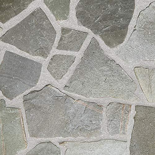 乱形石 グレー 石 天然石 石材 自然石 乱形石材 石英岩 クォーツサイト モーリー グレー 1ケース 束 約0.5平米