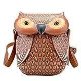 AiSi Damen Mädchen 3D Eule Design Leder süße Umhängetasche Damenhandtasche Handtasche Tasche...