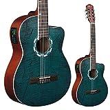 Lindo Guitars LDG-960CEQ Guitare électro-acoustique classique avec housse de transport en toile
