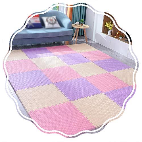 YANGJUN Puzzle Tapis Mousse Bébé Protection Imperméable Antidérapant Doux Épaissir Ménage Chambre, 4 Combinaisons (Color : D, Size : 60x60x2.0cm-16pcs)