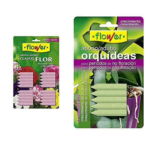 Flower Abono Clavos Flor Blister 20 Unid. 1-10506 + 10840 10840-Abono Clavos Orquídeas Blister, 5 Unidades, No Aplica,...