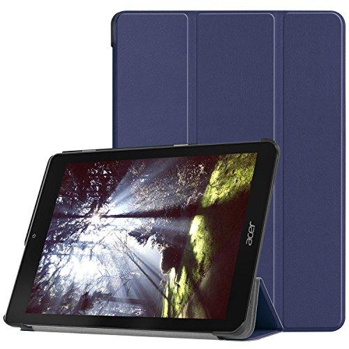 PauTion Acer Chromebook Tab 10 ケース カバー タブレット ケース 三つ折スタンド オートスリープ機能付 傷つけ防 高品質 PUレザー マグレット開閉式 薄型 超軽量 全面保護型 (Acer Chromebook Tab 10, ブルー)