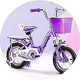 Vélos Vélos Vélos for Enfants 2-10 Ans Fille Enfants Vélos Vélos en Acier Au Carbone Rose Vélos 12 14 16 18 20 Pouces Draisienne Sports et Loisirs (Color : Purple, Size : 12inch)