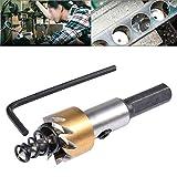 HOHXEN 18mm HSS Scie Cloche en Acier Inoxydable, Perçage de Métal pour Outils électriques de Forage à Métaux