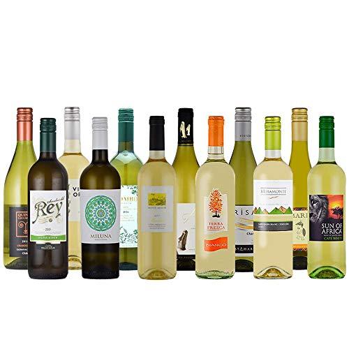 赤字覚悟の白ワインセット12本 4ヶ国飲み比べ 750mlx12本 コラム入り