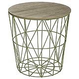 ATMOSPHERA Niedriger Tisch in Modernem Design - skandinavischer Stil - Farbe GRÜN Anis