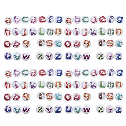 Healifty 100 Piezas Botones de Madera Redondos Surtidos Botones del Alfabeto Botones de Letras Adornos 2 Agujeros Botones para confección de Ropa de Costura DIY