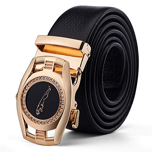 Xme Cinturón de cuero para hombres, caja de regalo para cinturón de moda para hombres, cinturón...