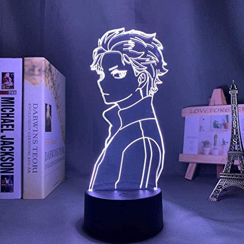 3D Illusion Lamp -Anime RE mundo diferente vida cero,3D LED Luz Nocturna para Niños, 7 Colores Cambian con Control Remoto, Regalos para Niños Niñas