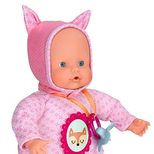 Nenuco - Blandito 5 Funciones Rosa, hace sonidos como un bebé de verdad, se ríe, llora, dice mamá y papá, hace sonidos de chupete y chupar el dedo. Regalo para bebés de 1 a 3 años FAMOSA (700014781)