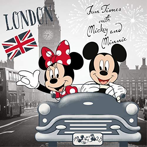 KK Kissen Kuschelkissen Dekokissen Minnie und Mickey in London 40 x 40 cm