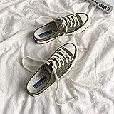 COQUI Sandalia Hombre,Medias Pantuflas Zapatos de Lona Femeninos Estudiante versión Coreana Zapatos Perezosos de un Paso-Verde Oliva_35