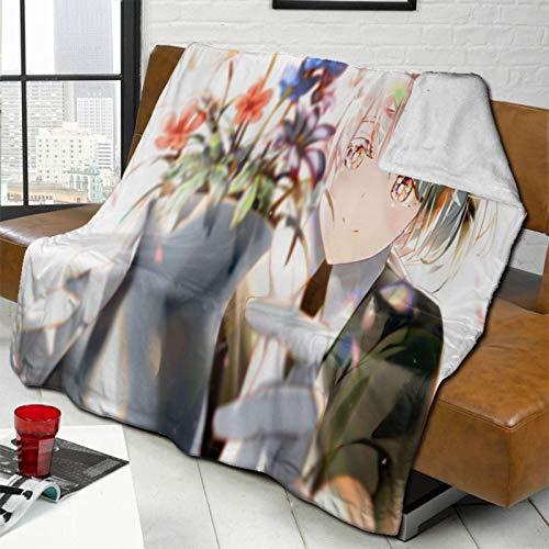 LeosWare Manta de lana de cordero súper suave y cálida, apta para sala de estar, dormitorio, sofá, viajes, coche, unisex, varios tamaños, decoración de la casa de 132 x 102 cm