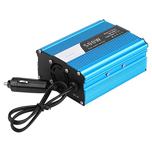 Best Deals! Nannday Car Power Inverter, Vehicle Adapter 500W DC 12V to AC 220V-240V Peak 600W Car Po...