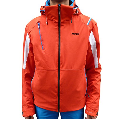 WEST SCOUT 3Layers Padded Ski Set Herren Skijacke rot weiß blau (56)