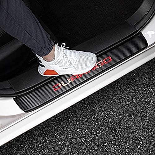 Ittba para Dodge 2011-2020 2021 Durango Puerta Protector zanco Reflectante 4D Fibra Carbono Cuero Puerta Coche Escritura Scruff Plate Guard Sills Bienvenido Puerta Protector Tort Pedal Funda 4pcs