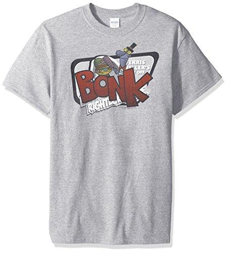 Trevco Herren Dexter's Laboratory Bonk Adult T-Shirt, Athletic Heather, XX-Large