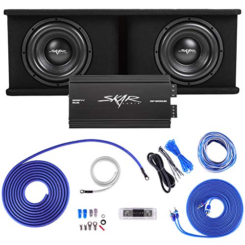 "Skar Audio Dual 10"" Complete 2,400 Watt SDR Series Subwoofer Bass Package - Includes Loaded Enclosure with Amplifier"