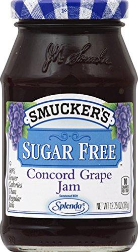 Smucker's Sugar Free Concord Grape Jam With Splenda Brand Sweetener, 12.75 oz