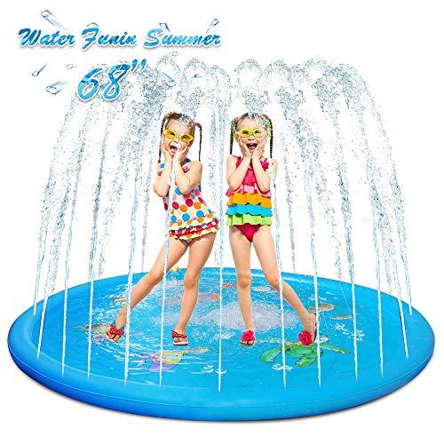EOSAGA Sprinkler for Kids, 68' Sprinkle & Splash Play Mat Wading Pool Splash pad for Toddlers for 1-12 Years Old Children Boys Girls