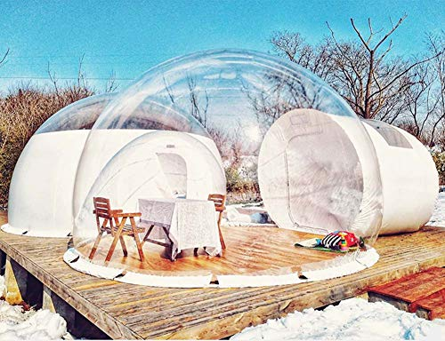 Inflatable Transparent Tent House,Inflatable Bubble,Rainproof Foam Air Dome Tent, Suitable for Outdoor Camping, Backyard
