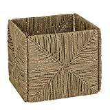 Honey-Can-Do STO-03666 Folding Seagrass Basket with Handles, 11.5 x 10.6 x 10.6',Natural