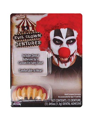 Kwaad Clown Tanden met Tandheelkundige lijm/stopverf Halloween