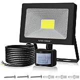 MEIKEE Projecteur LED avec détecteur de mouvement 50W 5000LM lampe de sécurité à...