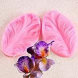SKJH 2 unids/Set Utensilios para Hornear de Cocina Flor de pétalo de orquídea Molde de Silicona Veiner Herramientas de decoración de Pasteles