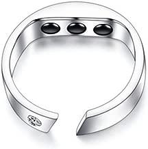 Titanium Stahl Anti Snore Ring Akupressur nat/ürliche Behandlung gegen Schnarchen Stopper Ger/ät Finger Ring Schlaf Gesundheitswesen L 5.8-6.5cm Little finger perimeter