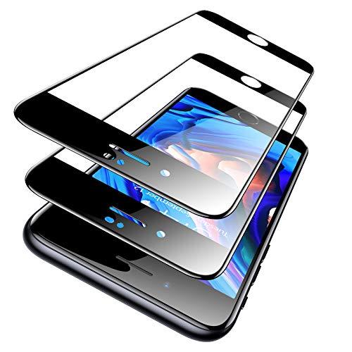 TORRAS Nur Kompatibel mit iPhone SE 2020 Panzerglas Full Screen [mit Fehlerfreiem Positionierung Rahmen] Panzerglas iPhone SE 2020 Folie [Schutz nach Militätstandard] Schutzfolie iPhone SE 2020-2 Pack